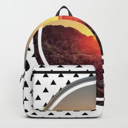 Peel sunset - small triangle graphic Backpack