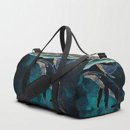 Moonlit Whales Duffle Bag