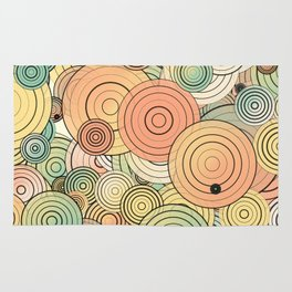 Layered circles Rug