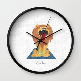 Lion Pose Wall Clock