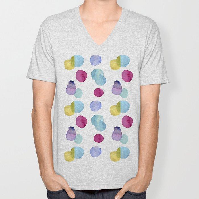 burbujas colores Unisex V-Neck