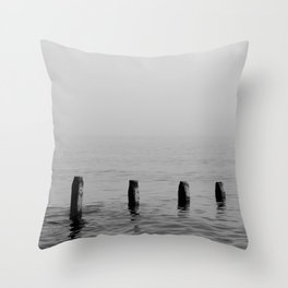 Five Stumps - Black and White Throw Pillow