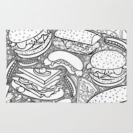 Junk and Health Food Frenzy Rug