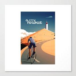 cycling mont ventoux tour de france Canvas Print