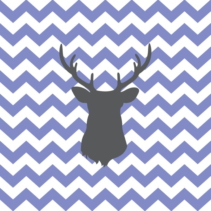 Purple chevron deer Comforters