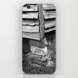 Vintage Black And White Structure iPhone Skin