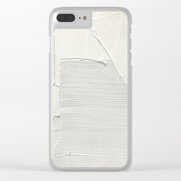 Relief [2]: an abstract, textured piece in white by Alyssa Hamilton Art Clear iPhone Case
