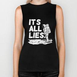 Moon Landing Conspiracy Theory Fake Illuminati Shirt & Gift Biker Tank