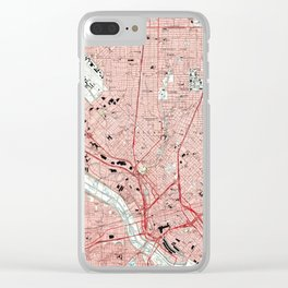 Dallas Texas Map (1995) Clear iPhone Case