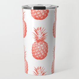 Coral Pineapple Travel Mug