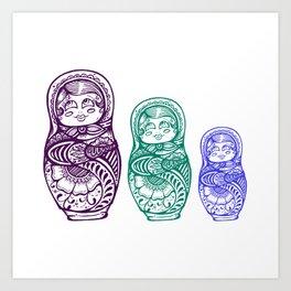 Nesting Doll Art Print