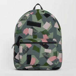 Geo Brush Green Backpack
