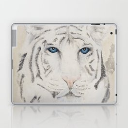 Original Art - White Tiger Original Painting (highly textured)  #white Laptop & iPad Skin