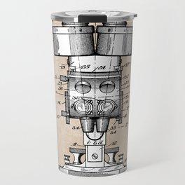 patent art Sabel Binocular Microscope 1926 Travel Mug