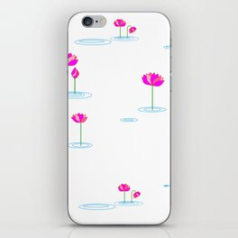 Water Lilies in Pink iPhone Skin