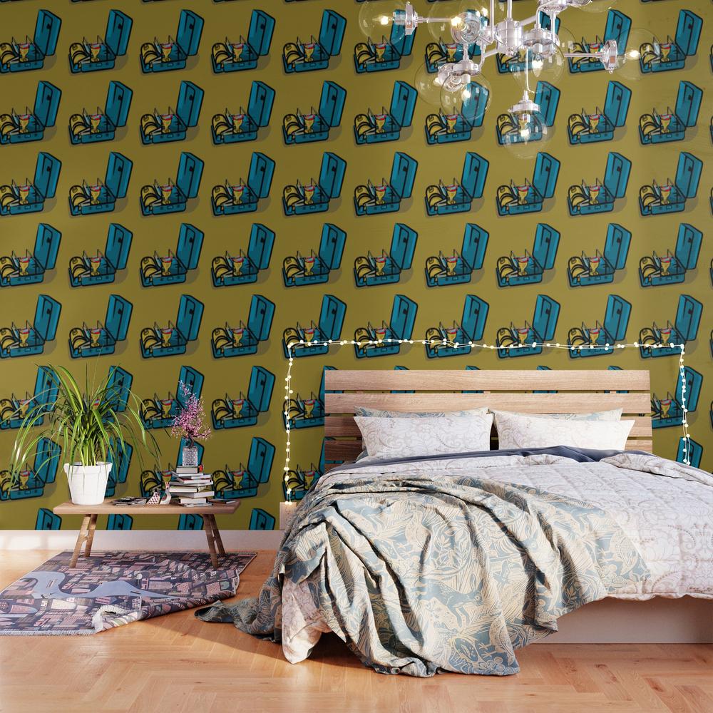 Retro Swedish Camp Stove Wallpaper by Mailboxdisco WPP3147404