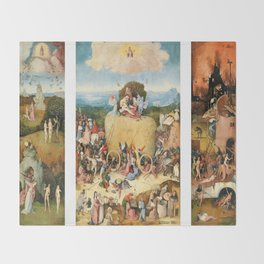 The Haywain Triptych by Bosch 1519 Throw Blanket