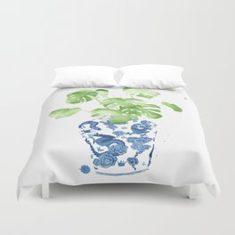 Ginger Jar + Monstera Duvet Cover