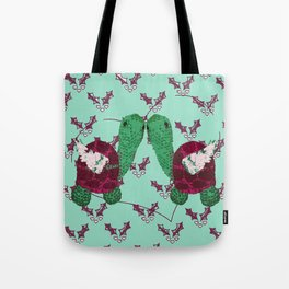 Mint Turtledoves - 12 Days of Christmas Tote Bag