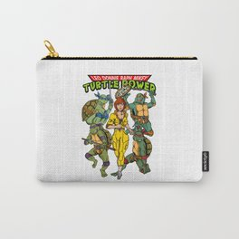 Classic Leo, Donnie, Raph, Mikey, and April O'Neil - Turtle Power! Carry-All Pouch