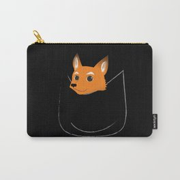 Fox in my pocket - on black Carry-All Pouch