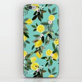 Summer Lemon Floral iPhone Skin