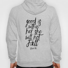 Psalm 46:5 God Is Within Her She Will Not Fall, Nursery Girls,Gift For Her,Bible verse,Scripture Art Hoody