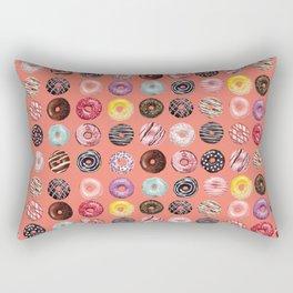 donuts coral pink Rectangular Pillow