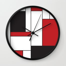 Geometric Abstract - Rectangulars Colored Wall Clock