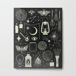 Light the Way: Glow Metal Print