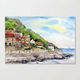 Summer in Runswick Bay Canvas Print