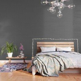 Small Black and White Interlocking Circles Wallpaper