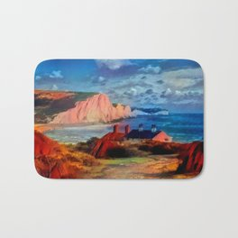 Dover in the Colors Of Ayers Rock Bath Mat