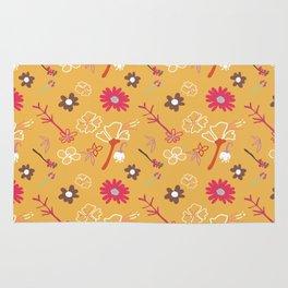 Orange Flower Repeat Rug