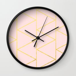 Pink Deco Wall Clock