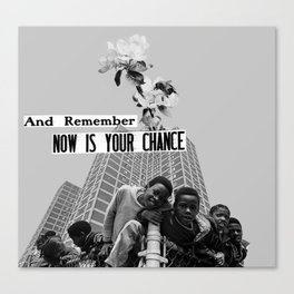 now is your chance Canvas Print