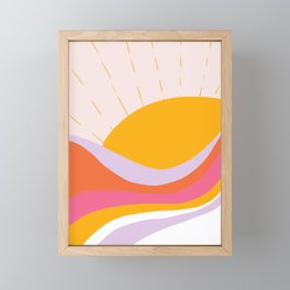 laurel canyon sunrise Framed Mini Art Print