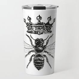 Queen Bee | Black and White Travel Mug