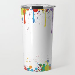 Paint Watercolor Splatter Travel Mug