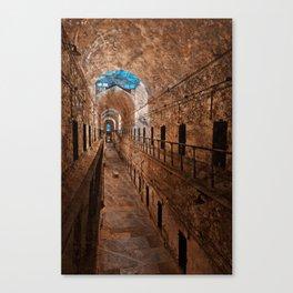 Prison Corridor - Sepia Blues Canvas Print