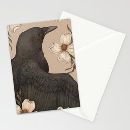 The Crow and Dogwoods Stationery Cards
