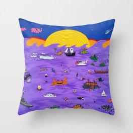 Mar de Trago IV Throw Pillow