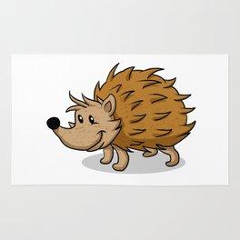 Hedgehog cartoon. Rug