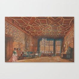 An Interior in Rosenberg Castle by Rudolf von Alt, 1856 Canvas Print