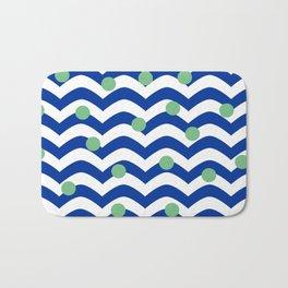 blue dotted waves Bath Mat