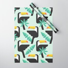Abstract Pattern with Toucan bird texture Wrapping Paper