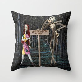 Halloween Town | Jack | Sally | Christmas | Nightmare Throw Pillow