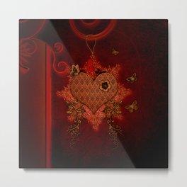 Wonderful heart made of metal Metal Print