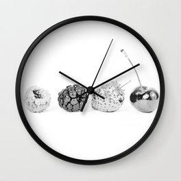 Silver fruits Wall Clock