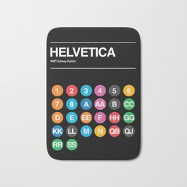 Hevletica and the NYC Subway Bath Mat